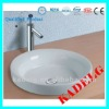 White Round Modern Ceramic Cabinet Wash basin