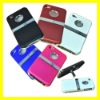 Deluxe Case Cover with Chrome Stand for iPhone 4 4s Stand Hard Cover Case New 5 colors