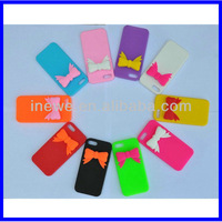 For iPhone 5 Soft silicone case with 3D bow