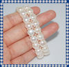 Nice Quality Button Shape Freshwater Pearl Bracelet BCM183