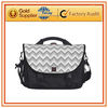 Gray and White Zigzag Pattern laptops bags dubai