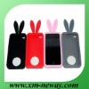 Rabbit shape silicone fancy cell phone covers, personalized silicone phone vocer