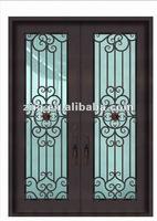 Square Top Wrought Iron Door