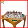 wooden garden giant chess table