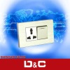 Shanghai DELIXI wall socket with switch