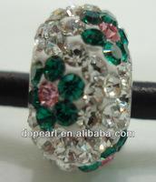 cheap wholesale cz pave shamballa beads big hole