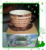 good quality ceramic flower bowls with handle