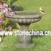 stone bird feeder