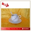 creative espresso cup and saucer with design,FDA
