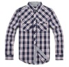 2012 long sleeve cotton men's plaids shirt