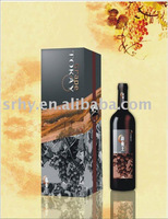HW-1008 engraving paper wine box