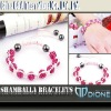 2012 fashion pink alloy shamballa bracelet