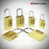 High Quality Digit Resettable Brass Combination Lock