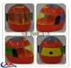 plastic funny helmet pencil sharpener for kid