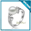 Hot!! 925 Sterling Silver Pearl Ring