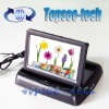 """Universal 4.3"""" foldable tft lcd monitors with 2 CH video input for car back up cam"""