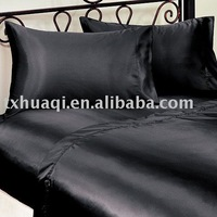 plain satin sheet set