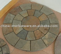 round tile of rusty