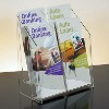 double-deck acrylic movable book shelf