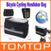 Black Bicycle Cycling Handlebar Bag Front Tube Pannier Rack Bag Basket