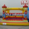 Funny clown of inflatable bouncer