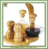 bamboo condiment rack and spice set