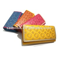 embroidery fashion wallets ladies