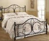 Modern wrought iron bed(LB-I-B-0075)