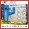 (WRT-30219) 12 Nylon Dies Watch Case Back and Crystal PressTool
