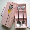 wedding spoon and fork cutlery set, valentine gift spoon and fork