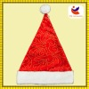 factory sales short plush hot stamping christmas cap