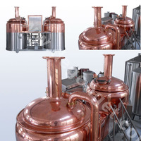 red copper micro brewing equipment 500l