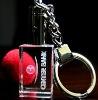 Laser crystal keychain