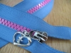 5# plastic zipper,  triangle teeth zipper, pvc zipper
