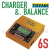 LiPo Balance Charger, 6S Digital Charger for RC Model Accessory lipo battery balancing charger