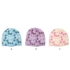 full background printing knitted hat with rhinestone