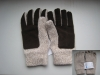 knitted woolens gloves with suede glove palm