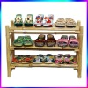 Bamboo Display Racks Shelves Shoe Rack Retail