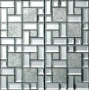Diamond mirror mural mosaic tile