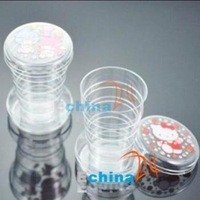 Folding Retractable Transparent Travel Cup