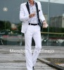 New Fashion Stylish Men's Blazer Business causal Suit white