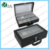 pu leather watch display case box for men black leather boxes for watches