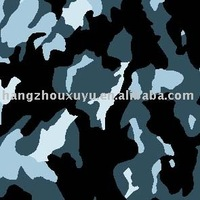 PU coated winter camouflage fabric