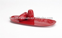 red reactive color ceramic salt and pepper