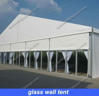 glass wall tent big event tent 25mx30m in aluminum frame