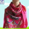 2012 Eco-Friendly Absolutely Healthy Material Newest Design Most Fashion Classic Style Digital Print Silk Scarf