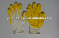 13 guage white nylon with hydrotactic pu coated glove