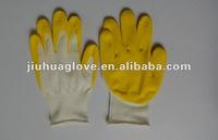 13 guage white nylon with hydrotactic pu coated glove