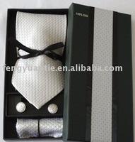 silk woven necktie set