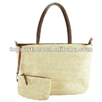 wholesale straw beach bags with purse(YH081318)